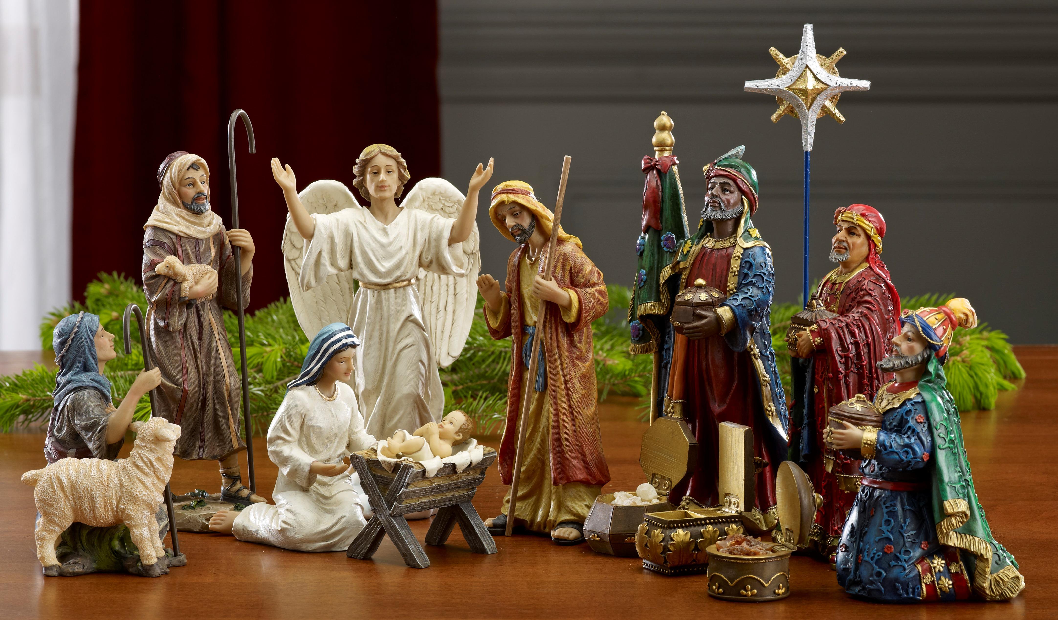 "Three Kings Gift - 7"" Real Life Nativity - 14 pc set ..."